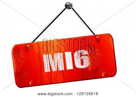 mi6 secret service, 3D rendering, vintage old red sign