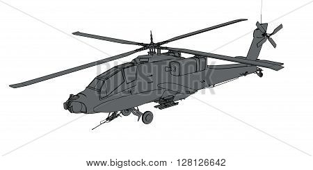 3d Rendering of schematic air force helicopter