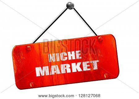 niche market, 3D rendering, vintage old red sign