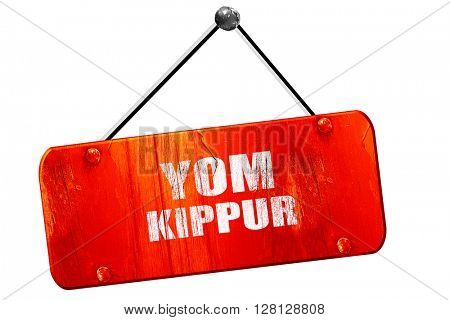 yom kippur, 3D rendering, vintage old red sign