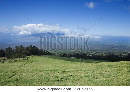 Landscape of Poli-Poli, Upcountry Maui, Hawaii, USA.