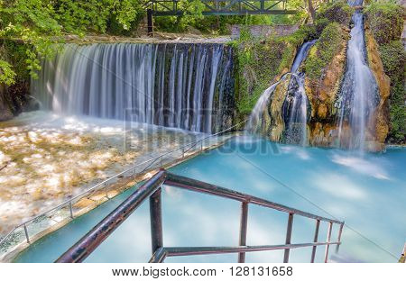 Pozar Thermal Baths in Almopia, Macedonia, Greece
