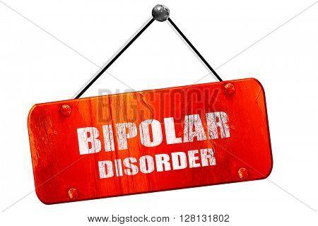 Bipolar sign , 3D rendering, vintage old red sign