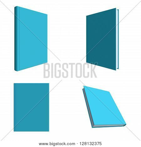 Set Of Mock Up Book On Clean Background.