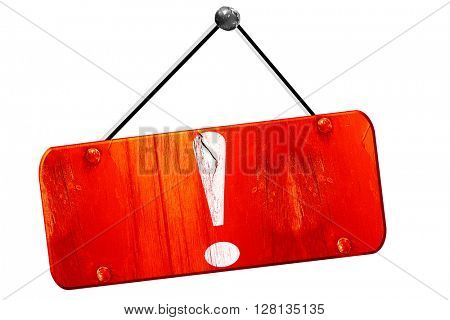 Hazard warning sign, 3D rendering, vintage old red sign