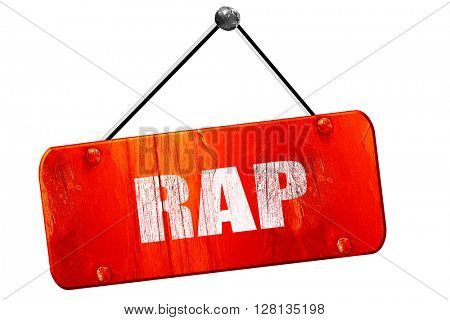 rap music, 3D rendering, vintage old red sign
