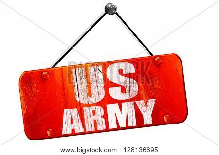 us army, 3D rendering, vintage old red sign