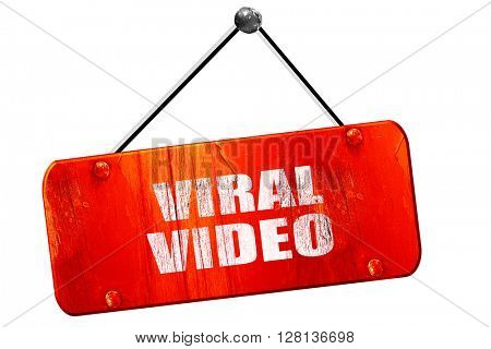 viral video, 3D rendering, vintage old red sign