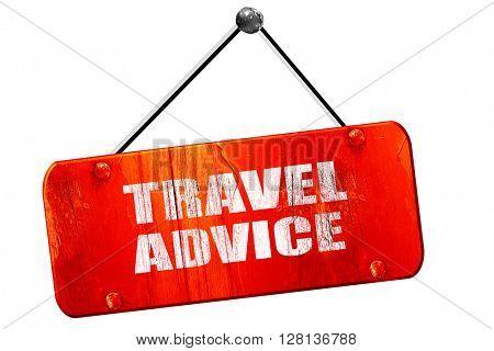 travel advice, 3D rendering, vintage old red sign