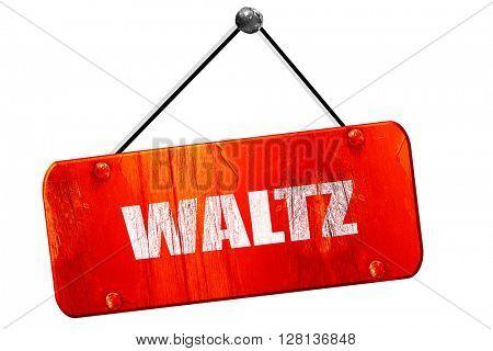 waltz dance, 3D rendering, vintage old red sign