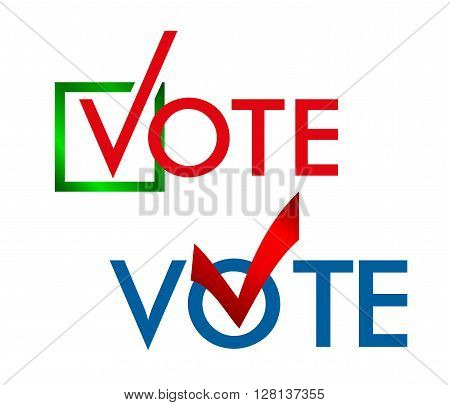 Voting Symbols vector design. template Elections icons. check marks. Vector. cast your vote.