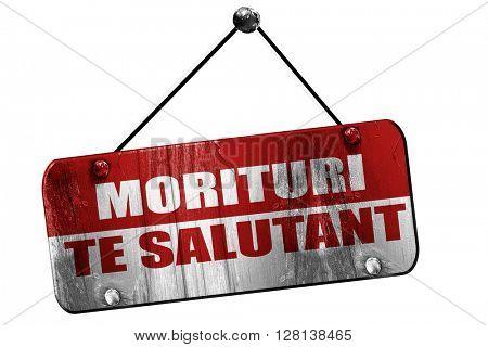 morituri te salutant, we who are about to die, 3D rendering, gru