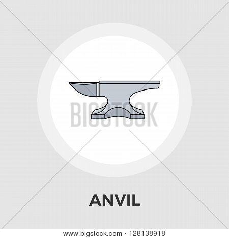Anvil Icon Vector. Flat icon isolated on the white background. Editable EPS file. Vector illustration.