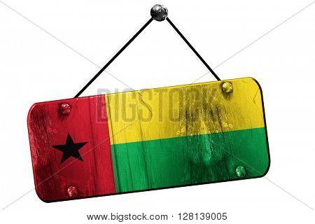 Guinea bissau flag, 3D rendering, vintage grunge hanging sign