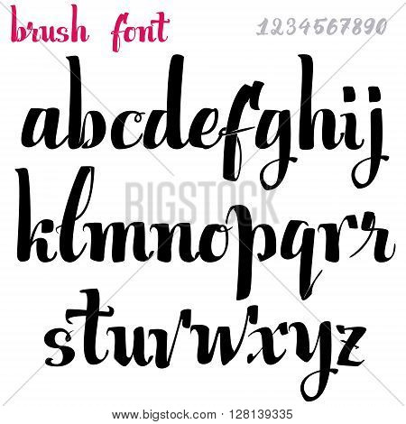 Hand drawn font handwriting brush It can be used to design logos, badges, labels, postcards, posters