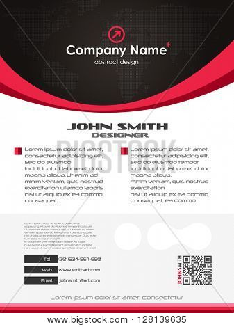 Vector abstract creative business card