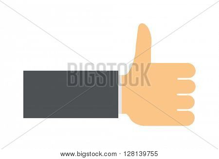 Like hand finger up sign icon vector