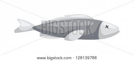 Dead fish vector illustration.