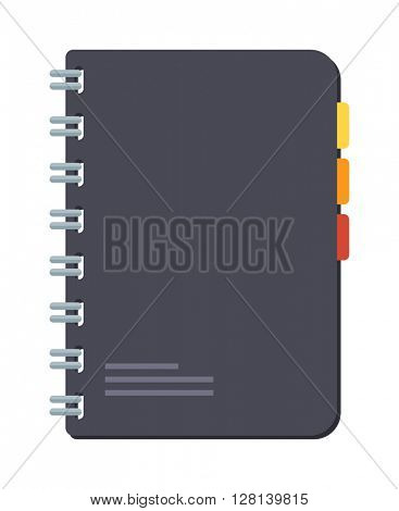Planners notebook vector illustration.