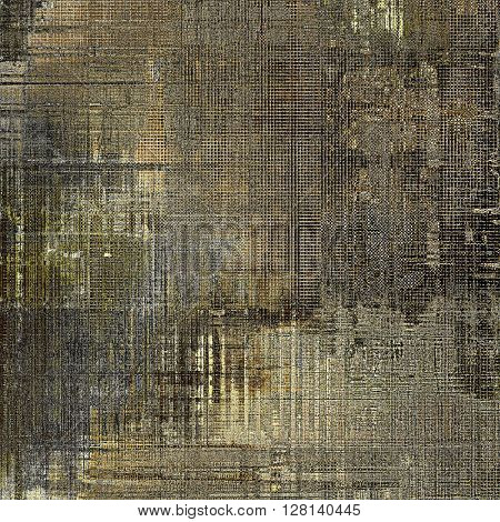Retro design on grunge background or aged faded texture. With different color patterns: yellow (beige); brown; gray; black
