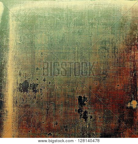 Elegant vintage background, grunge design template. Ancient texture with different color patterns: yellow (beige); brown; gray; green; red (orange); black