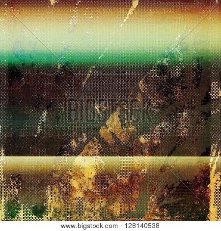 Abstract grunge background or aged texture. Old school backdrop with vintage feeling and different color patterns: yellow (beige); brown; gray; green; red (orange)