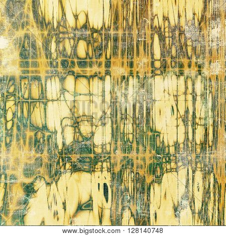 Background with grunge elements on vintage style old texture. With different color patterns: yellow (beige); brown; gray; green