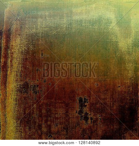 Creative vintage grunge texture or ragged old background for art projects. With different color patterns: yellow (beige); brown; gray; green