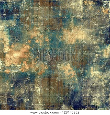Vintage elegant background, creased grunge backdrop with aged texture and different color patterns: yellow (beige); brown; gray; blue; cyan