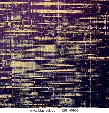 Stylish grunge texture, old damaged background. With different color patterns: yellow (beige); gray; blue; purple (violet); black