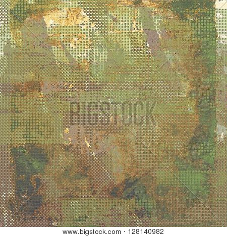 Retro design on grunge background or aged faded texture. With different color patterns: yellow (beige); brown; gray; green