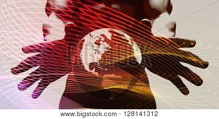 Worldwide Customer Support System Network as Concept 3D Illustration Render