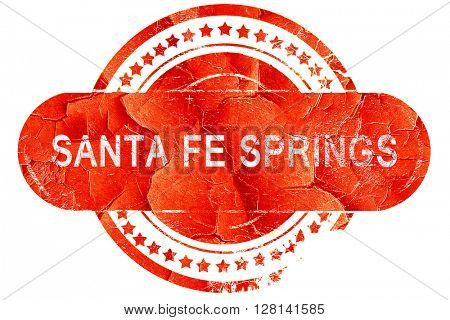 sante fe springs, vintage old stamp with rough lines and edges