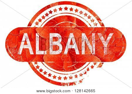 albany, vintage old stamp with rough lines and edges