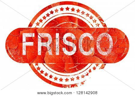 frisco, vintage old stamp with rough lines and edges
