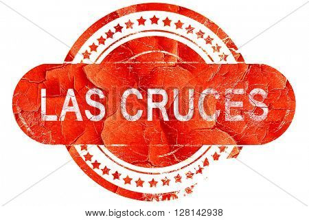 las cruces, vintage old stamp with rough lines and edges