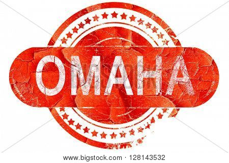 omaha, vintage old stamp with rough lines and edges