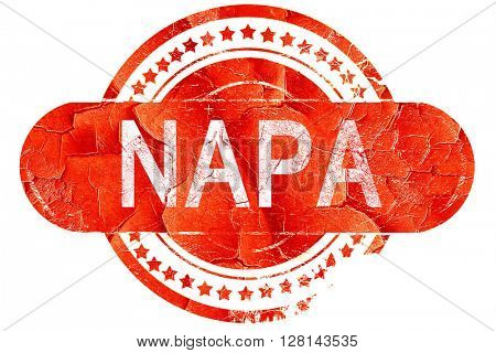 napa, vintage old stamp with rough lines and edges