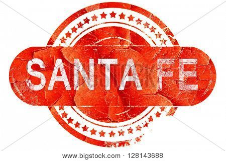 santa fe, vintage old stamp with rough lines and edges