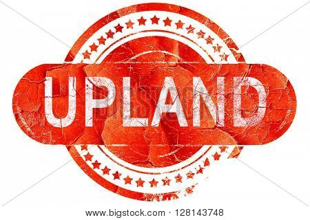 upland, vintage old stamp with rough lines and edges