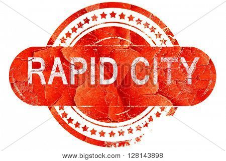 rapid city, vintage old stamp with rough lines and edges