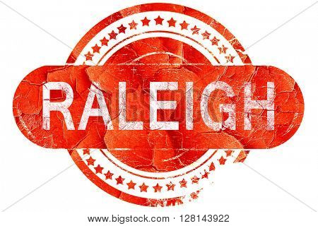 raleigh, vintage old stamp with rough lines and edges