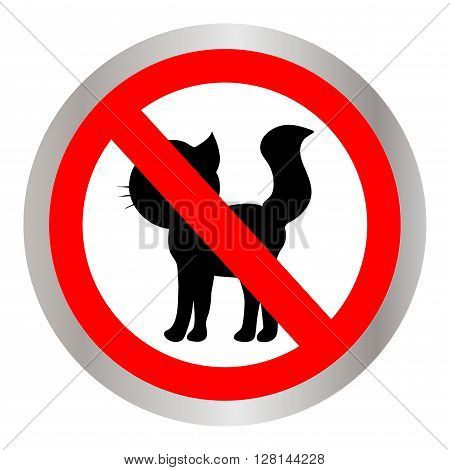 No cats sign, do not allowed. Vector illustration.