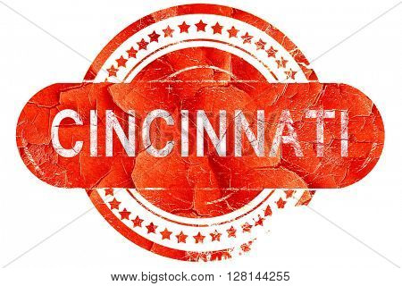 cincinnati, vintage old stamp with rough lines and edges