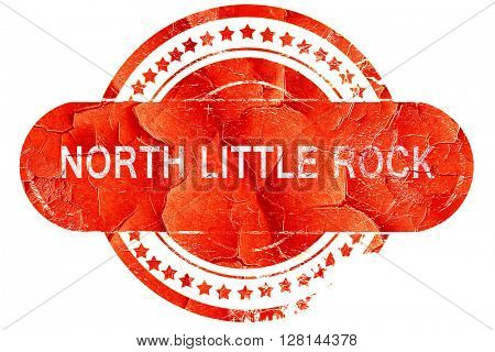 north little rock, vintage old stamp with rough lines and edges