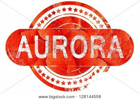 aurora, vintage old stamp with rough lines and edges