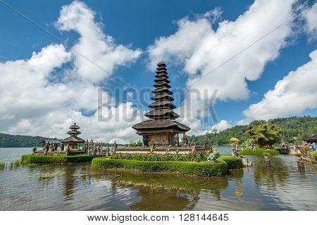 Pura Ulun Danu temple on a lake Beratan. Bali ,Indonesia