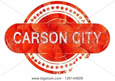 carson city, vintage old stamp with rough lines and edges