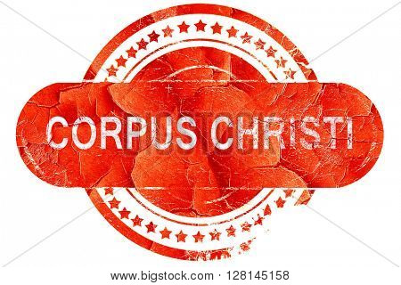 corpus christi, vintage old stamp with rough lines and edges