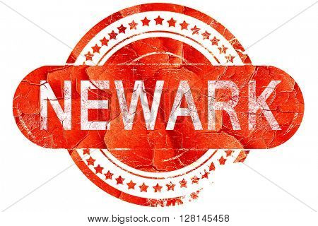 newark, vintage old stamp with rough lines and edges
